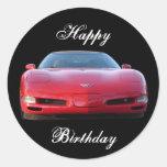 Etiqueta do feliz aniversario adesivos em formato redondos