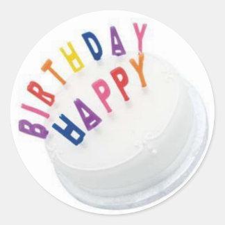 Etiqueta do feliz aniversario GRANDE Adesivos Redondos
