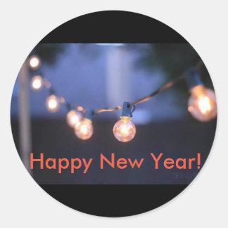 Etiqueta do feliz ano novo