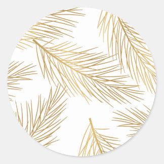 Etiqueta do feriado das agulhas do pinho da folha