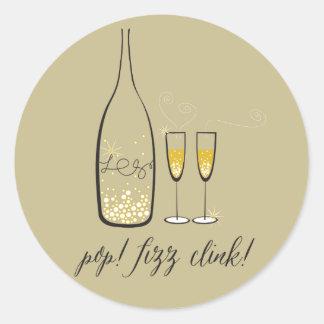 Etiqueta do feriado do ano novo de Champagne do