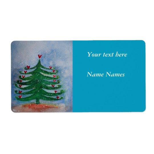 Etiqueta do feriado do ano novo do Feliz Natal Etiqueta De Frete