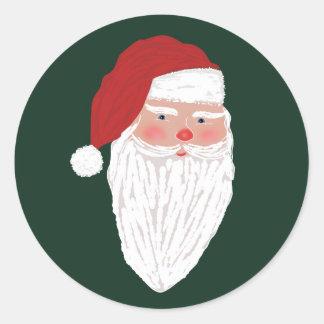 Etiqueta do feriado do Natal do papai noel do