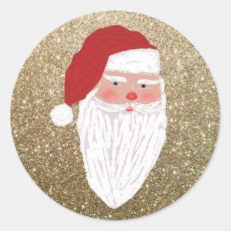 Etiqueta do feriado do Natal dos Sparkles do papai