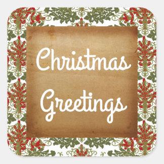 Etiqueta do feriado do ouro dos cartões de natal