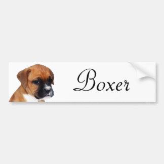 Etiqueta do filhote de cachorro do pugilista adesivo para carro