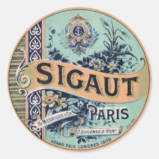 Etiqueta do francês do vintage adesivo