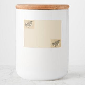 Etiqueta do frasco com design 3 da borboleta de