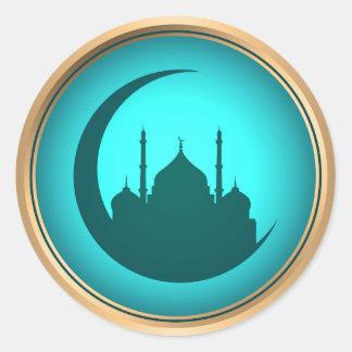 Etiqueta do fundo da mesquita