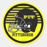 Etiqueta do futebol de Pittsburgh Adesivo Redondo