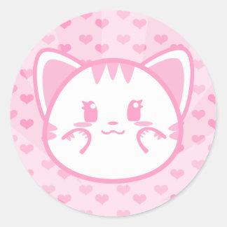 Etiqueta do gatinho de Bubblegum Adesivo