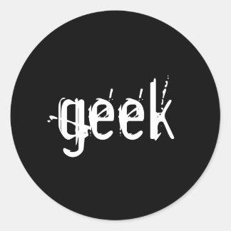 etiqueta do geek adesivo