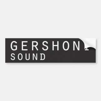 etiqueta do gershonisound_bumper adesivo para carro