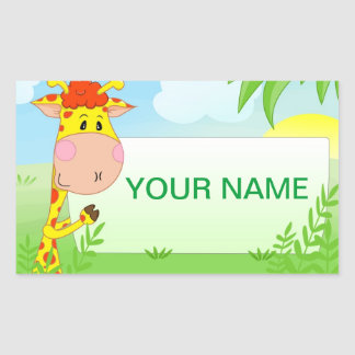 Etiqueta do girafa para crianças adesivo
