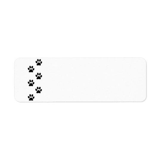 Etiqueta do impressão da pata etiqueta endereço de retorno