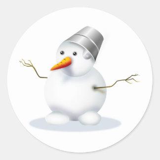 Etiqueta do inverno do feriado do boneco de neve