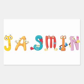 Etiqueta do jasmim
