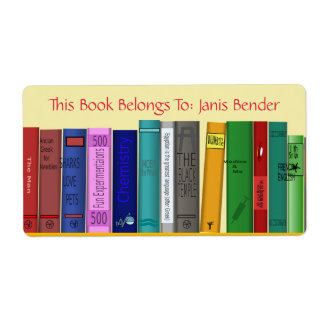 Etiqueta do livro com livros