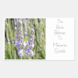 Etiqueta do livro da gratitude adesivo retangular