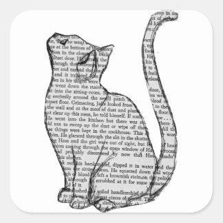 etiqueta do livro de leitura do gato
