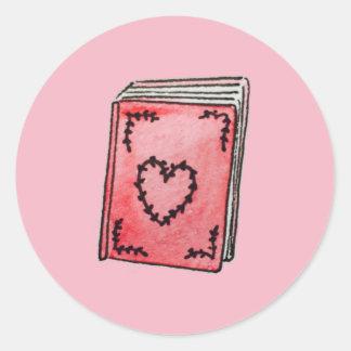 Etiqueta do livro do coração