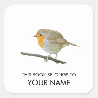 Etiqueta do livro do pisco de peito vermelho