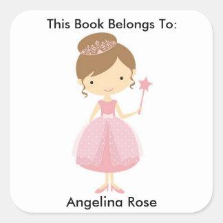 Etiqueta do livro, etiqueta do livro, adesivo quadrado