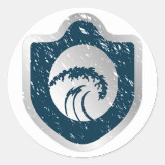 Etiqueta do logotipo adesivo