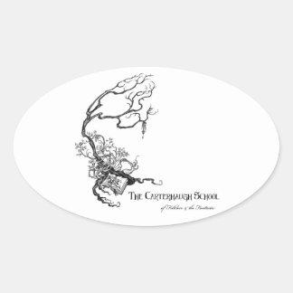 Etiqueta do logotipo da escola de Carterhaugh