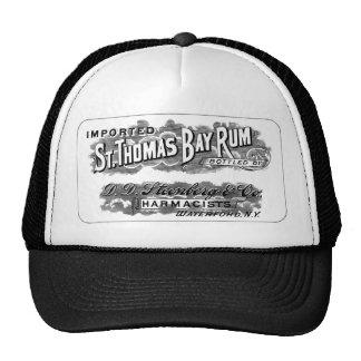 Etiqueta do logotipo da propaganda do rum de baía boné