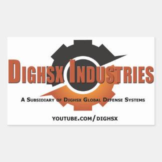 Etiqueta do logotipo das indústrias de Dighsx