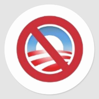 etiqueta do logotipo de Anti-obama Adesivo Redondo