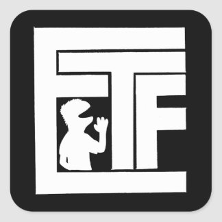 Etiqueta do logotipo de ETF (branco) -