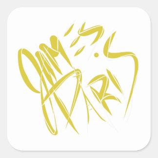 Etiqueta do logotipo de James Paris do ouro