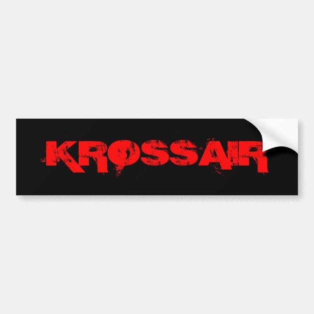 Etiqueta do logotipo de Krossair Adesivo Para Carro   Zazzle