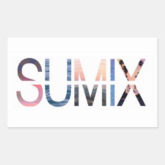 Etiqueta do logotipo de Sumix