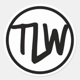Etiqueta do logotipo de TLW lustrosa