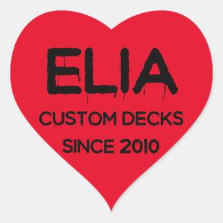 Etiqueta do logotipo do coração de Elia