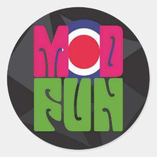 etiqueta do logotipo do divertimento da adesivo