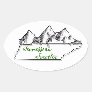 Etiqueta do logotipo do viajante de Tennessean