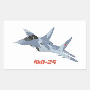 Etiqueta do lutador de jato MiG-29