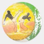 etiqueta do machado do ginga do capoeira adesivos