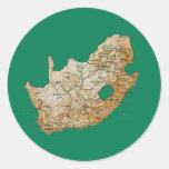 Etiqueta do mapa de África do Sul Adesivo