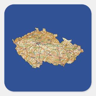 Etiqueta do mapa de Czechia