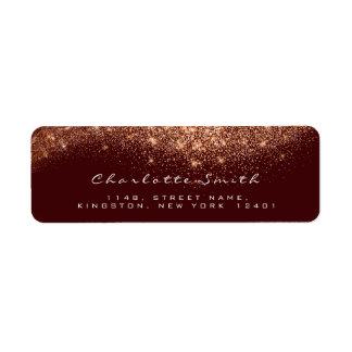 Etiqueta Do marrom cor-de-rosa do ouro do cobre do brilho