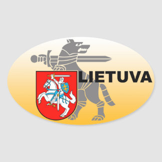 Etiqueta do ministério de defesa de Lithuania! Adesivo Oval