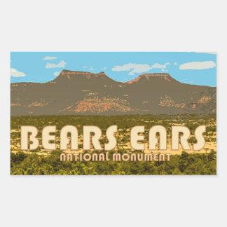 Etiqueta do monumento nacional das orelhas dos