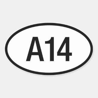 Etiqueta do motor de Datsun Nissan A14 Adesivos Ovais