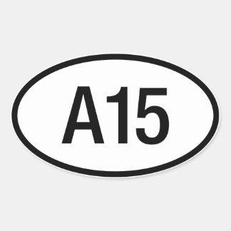 Etiqueta do motor de Datsun Nissan A15 Adesivos Em Formato Oval