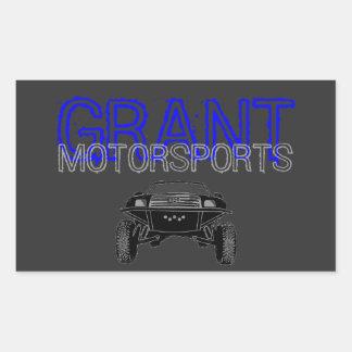 Etiqueta do Motorsport Adesivo Em Forma Retangular